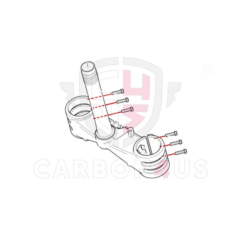 Titanium screw kit for triple clamp on Ducati Panigale