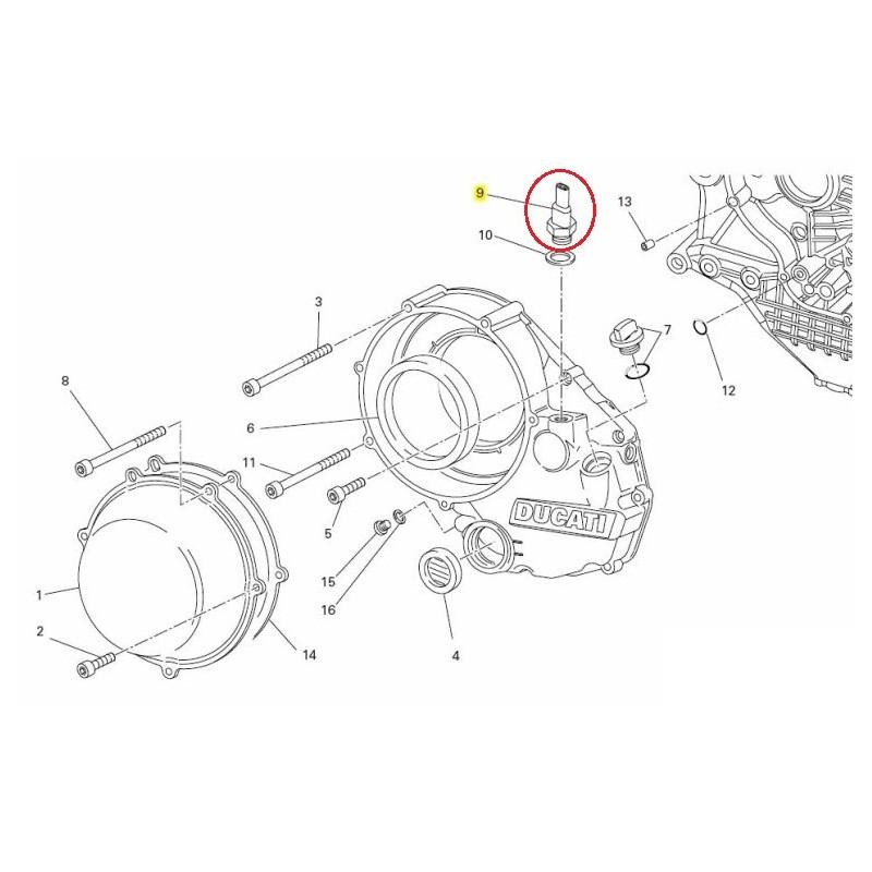 Ducati OEM switch assy, oil pressure 53940302A
