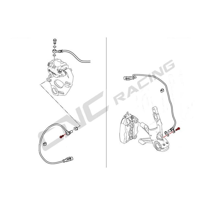 Tornillo CNC Racing para sensor ABS Ducati Multistrada.