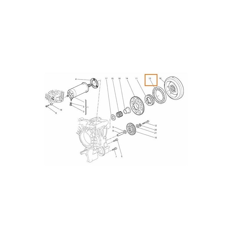 Ducati OEM Replacement Flange for Starting Clutch 160Z0011A