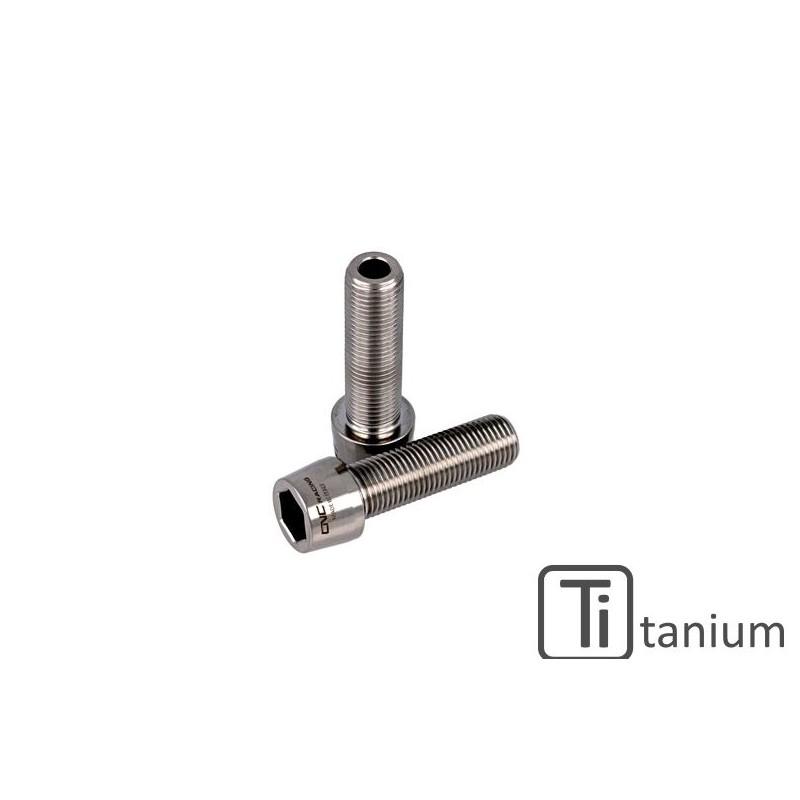 Eccentric hub titanium screw set CNC Racing for Ducati.