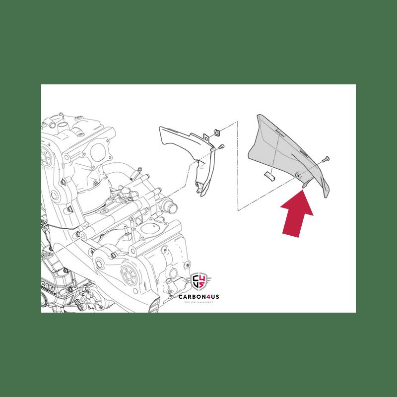 Protecteur moteur moyen Ducati Monster 821 et 1200