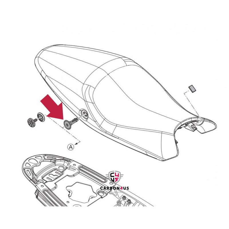 Tornillo de tapa de sillín Original Ducati Monster