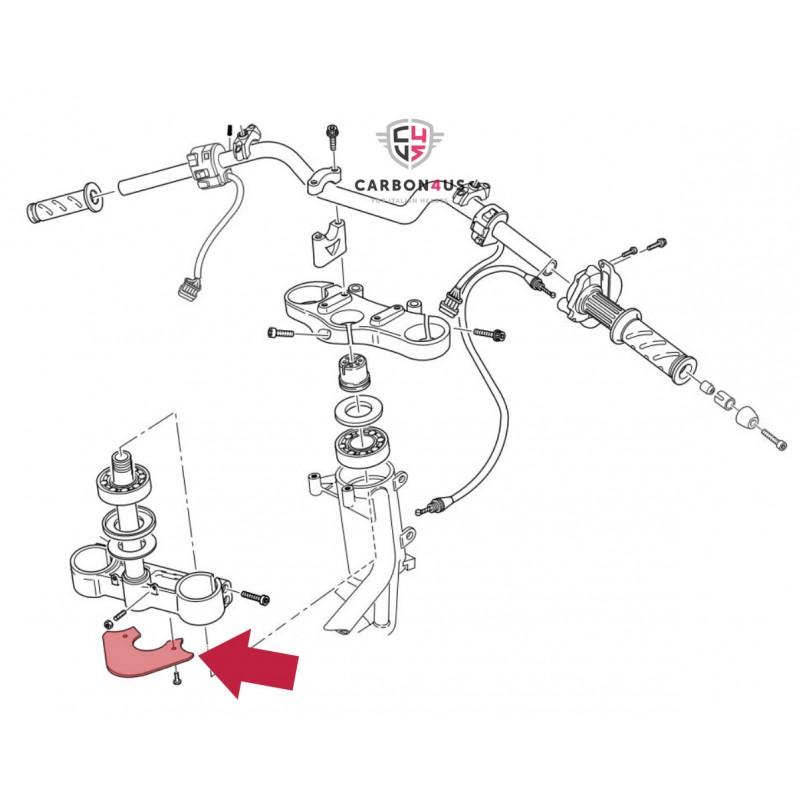 Protection inférieure té de fourche d'origine Ducati.