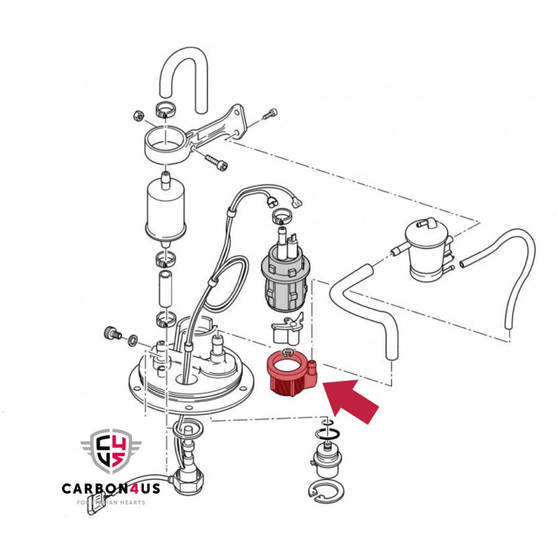 Filtre de pompe à essence d'origine Ducati