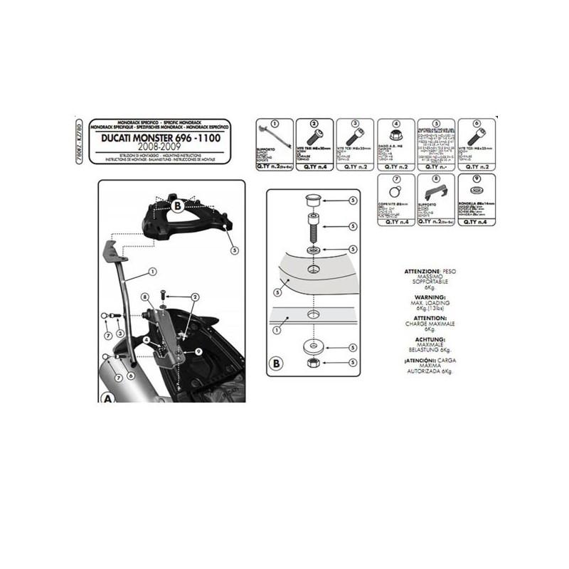 Système de fixation spécifique pour coffre