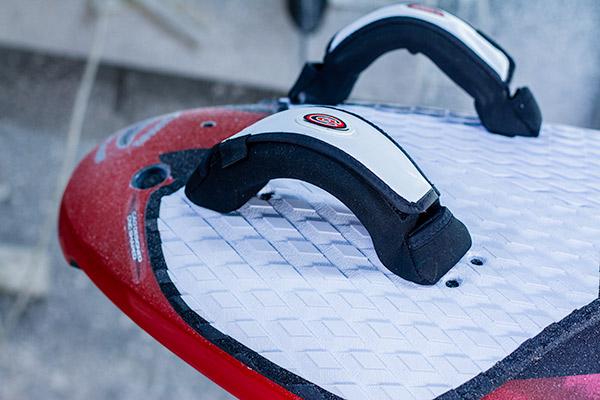 slalom board footstrap setup