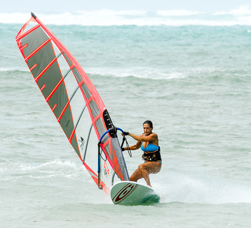 tammy bockius slalom windsurfing in maui