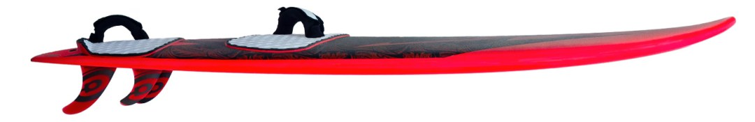 photo of kina waveboard rocker line and fins