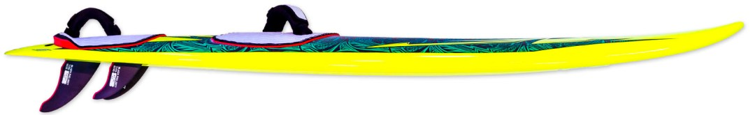 photo of kina windsurf waveboard rocker line and fins