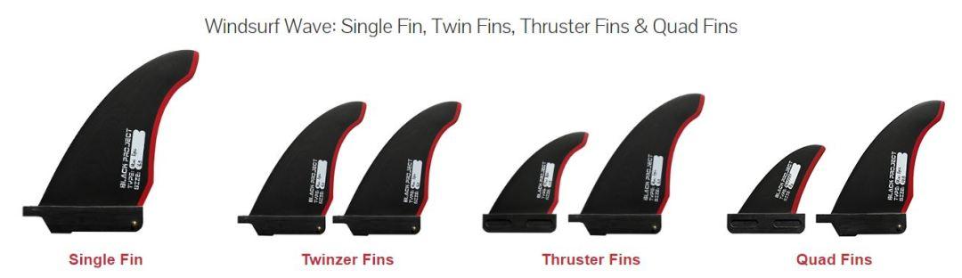 black project windsurf fins