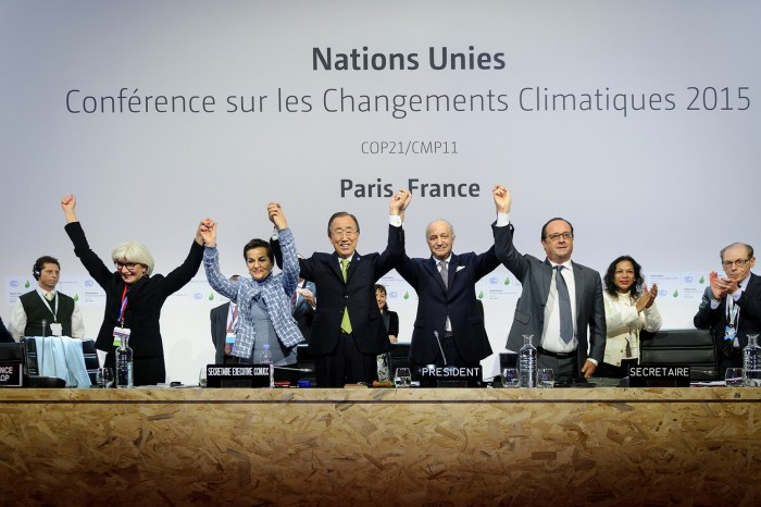 The Paris deal has been adopted.  [https://www.carbonbrief.org/analysis-the-final-paris-climate-deal] accessed on 29, Oct. 2020.
