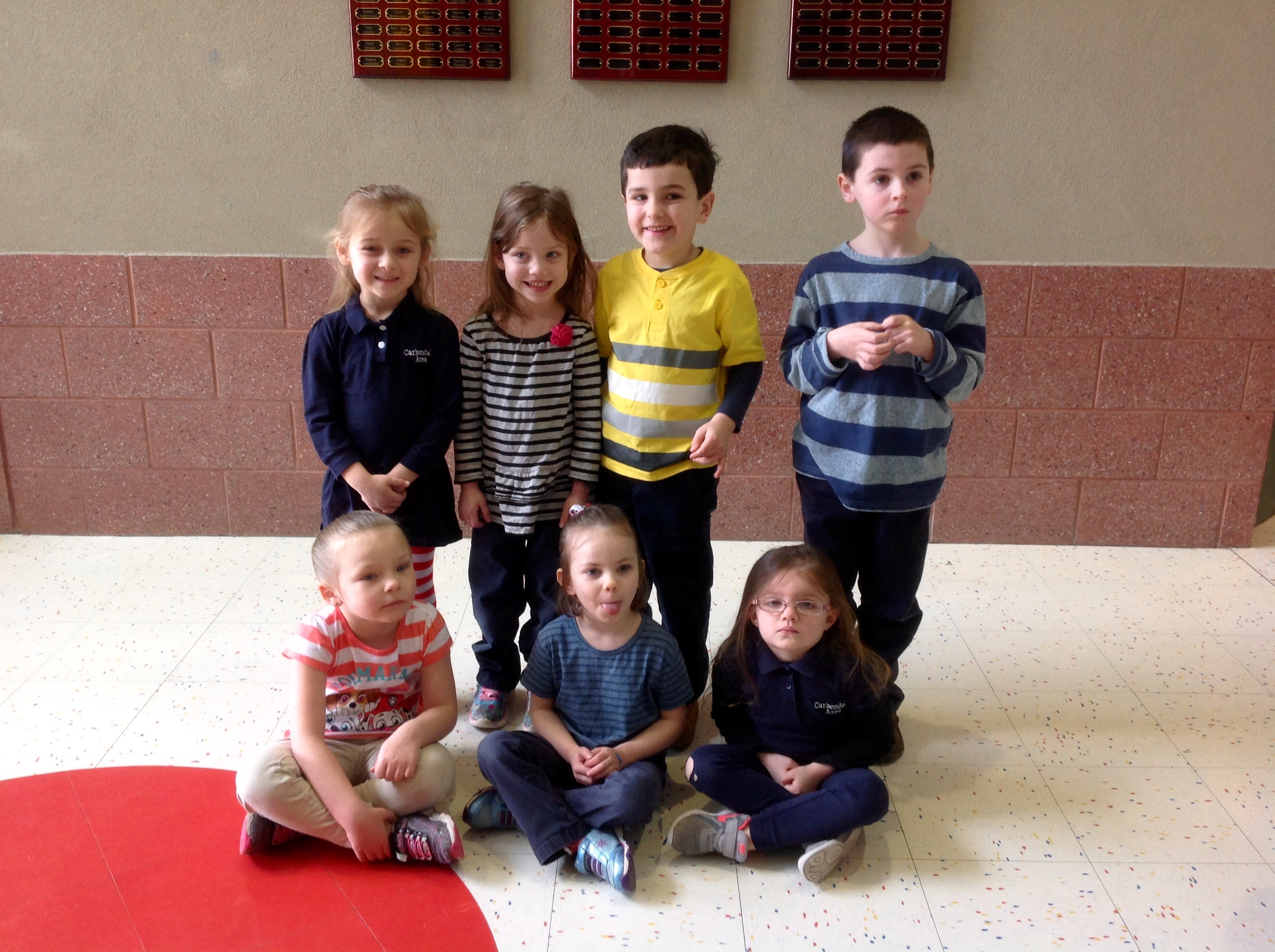Pre K Amp Kindergarten Students Of The Month For January