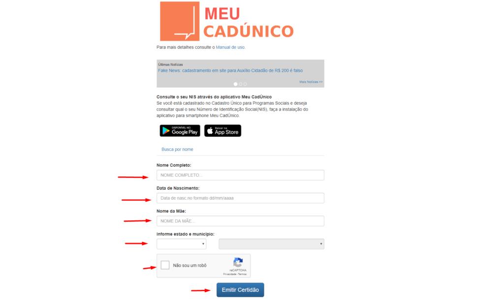 Como descobrir se você está inscrito no CadUnico pelo site - Carbonera e Tomazini