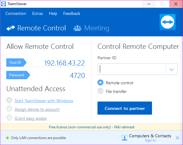 cara remote desktop via internet