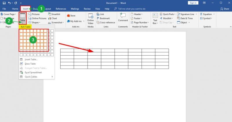 cara membuat tabel di word tanpa garis