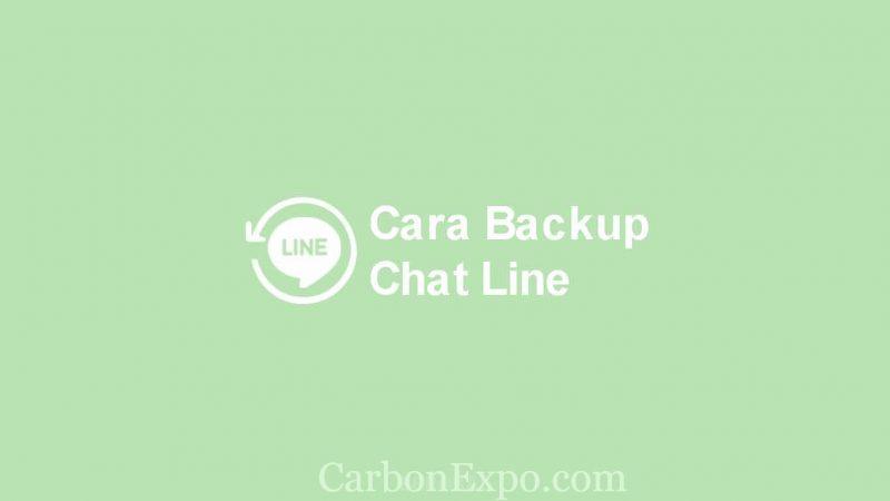 cara backup chat line iphone ke google drive
