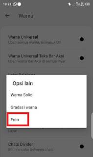 cara mengganti tema whatsapp aero dengan foto sendiri