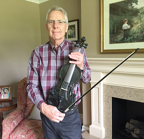 David Folle of Cambridge Ontario proudly shows off the 5th Gayford Carbon Strad to be sold
