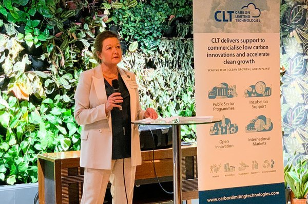 Beverley Gower Jones talking at the CLT drinks reception