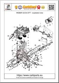 WEBER 32/34 DFT parts diagram