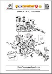 WEBER 40 IDA 3C parts diagram