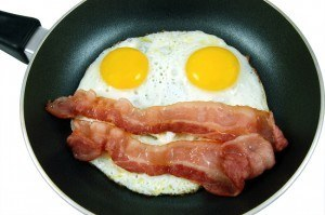 Low Carb Breakfast Options: Eggs and Bacon