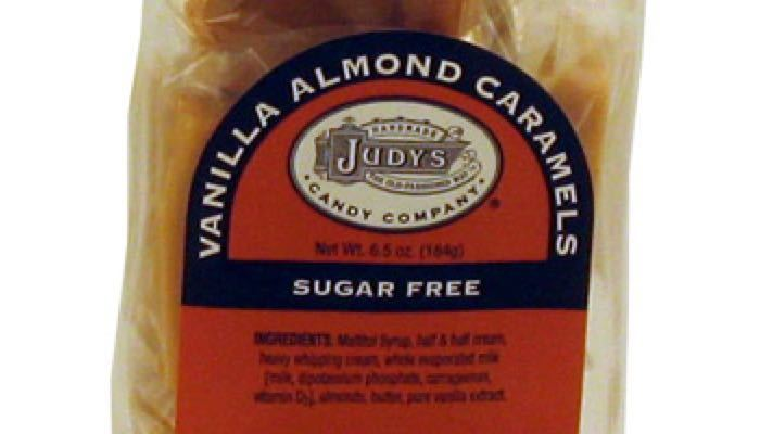 Vanilla Almond Caramels 6.5 oz. package by Judy's Candy Co.