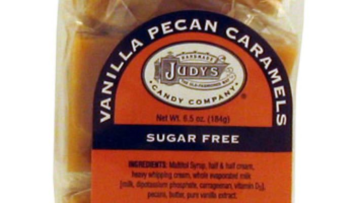 Vanilla Pecan Caramels 6.5 oz. package by Judy's Candy Co.