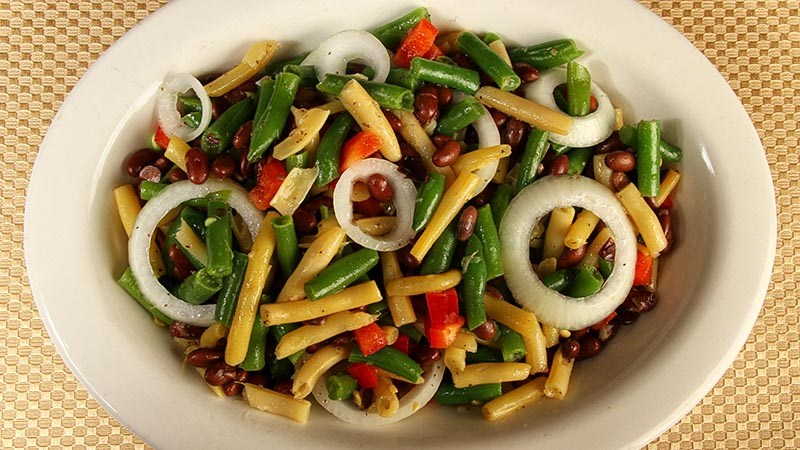 Low-Carb Gluten-Free Marinated Three Bean Salad