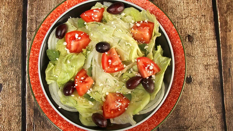 Low-Carb Basic Green Salad Variations With Dill & Oregano Recipe