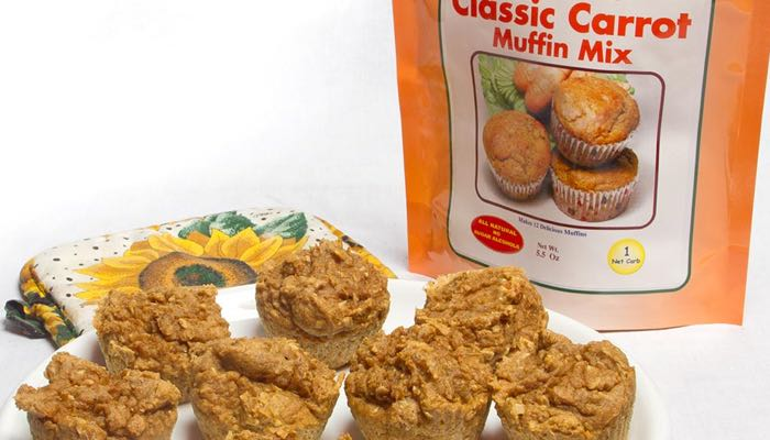 Classic Carrot Low Carb Muffin Mix by Dixie Carb Counters
