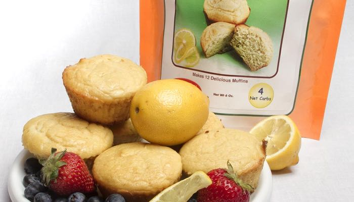 Lemon Cream Low Carb Muffin Mix by Dixie Carb Counters