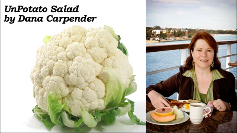 Low-Carb UnPotato Salad with Cauliflower Recipe by Dana Carpender