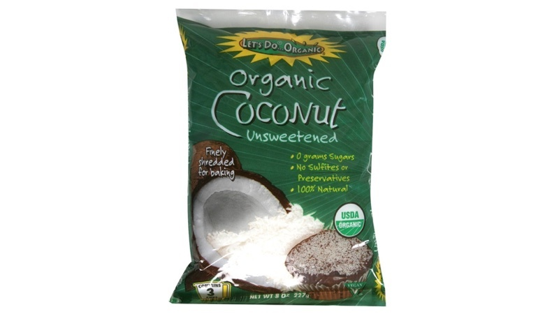 Organic Shredded Unsweetened Coconut 8 oz. bag by Let's Do Organic