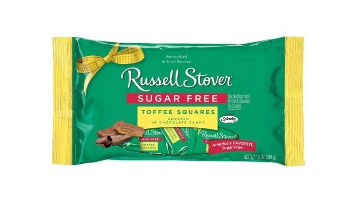 Sugar Free Toffee Squares Covered in Chocolate Candy by Russell Stover