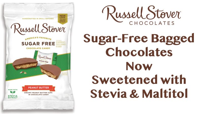 Sugar-Free Bagged Chocolates Sweetened with Stevia & Maltitol