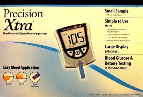 Precision Xtra Advanced For Testing Blood Glucose & Blood Ketones