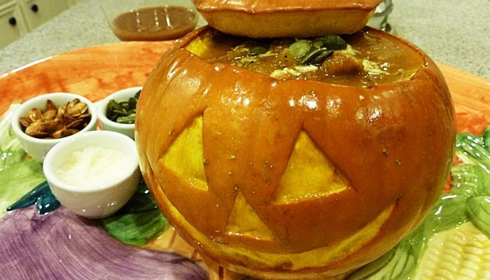 Pumpkin Sausage Soup Recipe: Ghoulishly Grizzly Low Carb Halloween Meals