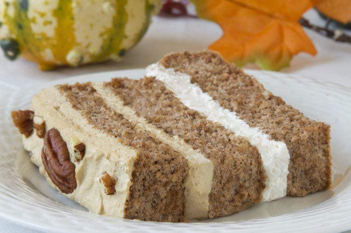 Pecan Latte Gateau Recipe from CarbSmart Low-Carb & Gluten-Free Holiday Entertaining Cookbook