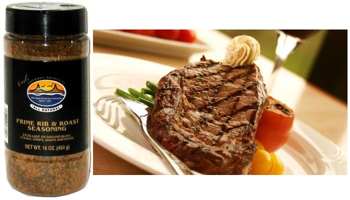 16 oz. Carl's Gourmet All Natural Prime Rib & Roast Seasoning and Meat Rubs