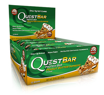 Peanut Butter Supreme Low Carb Gluten Free 2.12 oz. Protein Bar by Quest Nutrition