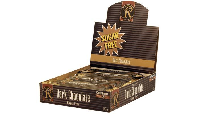 Ross Chocolates Sugar Free Dark Chocolate Bars Box