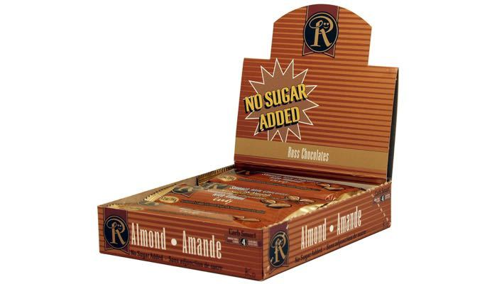 Milk Chocolate with Almond No Sugar Added Bars by Ross Chocolates
