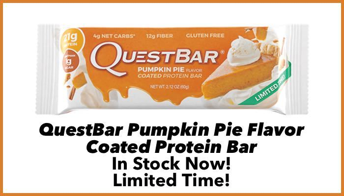 Quest Bar Pumpkin Pie Protein Bar by Quest Nutrition – LIMITED TIME ONLY!