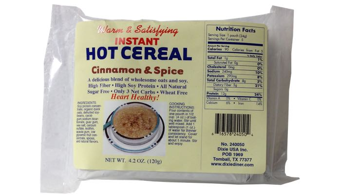 Dixie Carb Counters Cinnamon & Spice Hot Cereal
