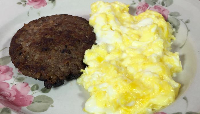 Sausage & Eggs Low-Carb Gluten-Free Bonus Fat Fast Recipe