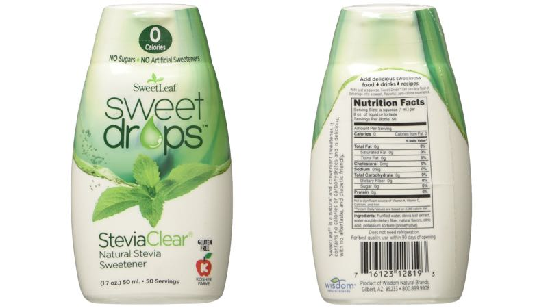 SweetLeaf SteviaClear Sweet Drops Liquid Stevia Sweetener