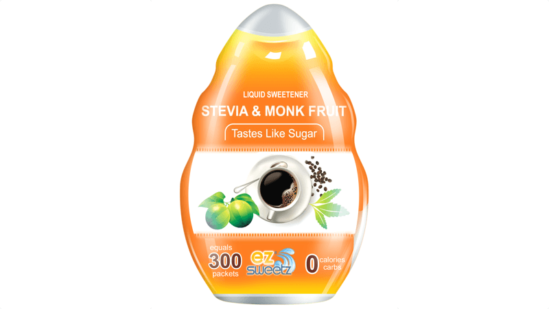 EZ-Sweetz Stevia & Monk Fruit Sweetener (300 Servings/Bottle)