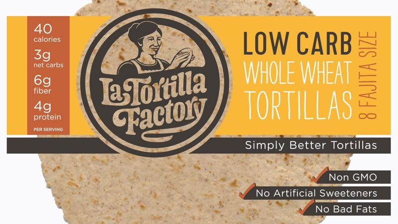 La Tortilla Factory Fajita Size Whole Wheat Low Carb Tortillas